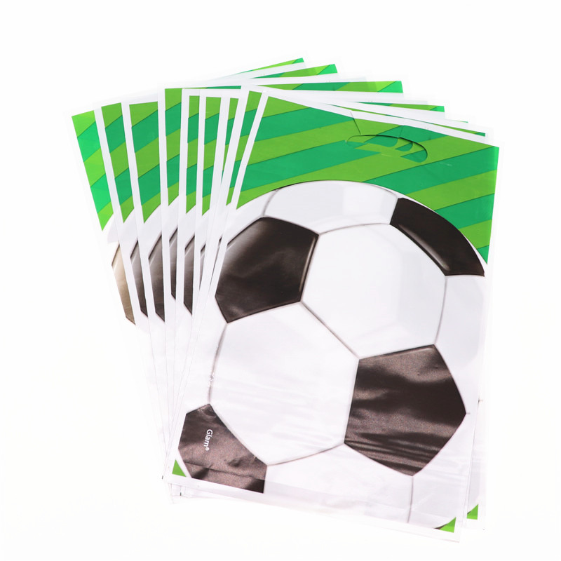 20Pcs/lot Football Soccer Cartoon Candy Gift Bags Favor Birthday Party Decorations Kids Adult For Home Party Supplies World Cup image
