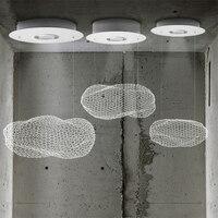 Nordic современный светильник Led железа люстры блеск светильник подвесные светильники светодиодные Чип светильники облако подвеска подвесно