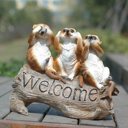 Garten mongoose Willkommen Zeichen Garten Grönland Willkommen Zeichen Pastoralen Stil Tier Dekoration Villa Dekorationen freies verschiffen-in Garten Statuen & Skulpturen aus Heim und Garten bei  Gruppe 1