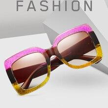 2019 Newest Fashion women sunglasses vintage oversize Brand Designer Sun glasses men Female shades Women UV400 Vintage Bling
