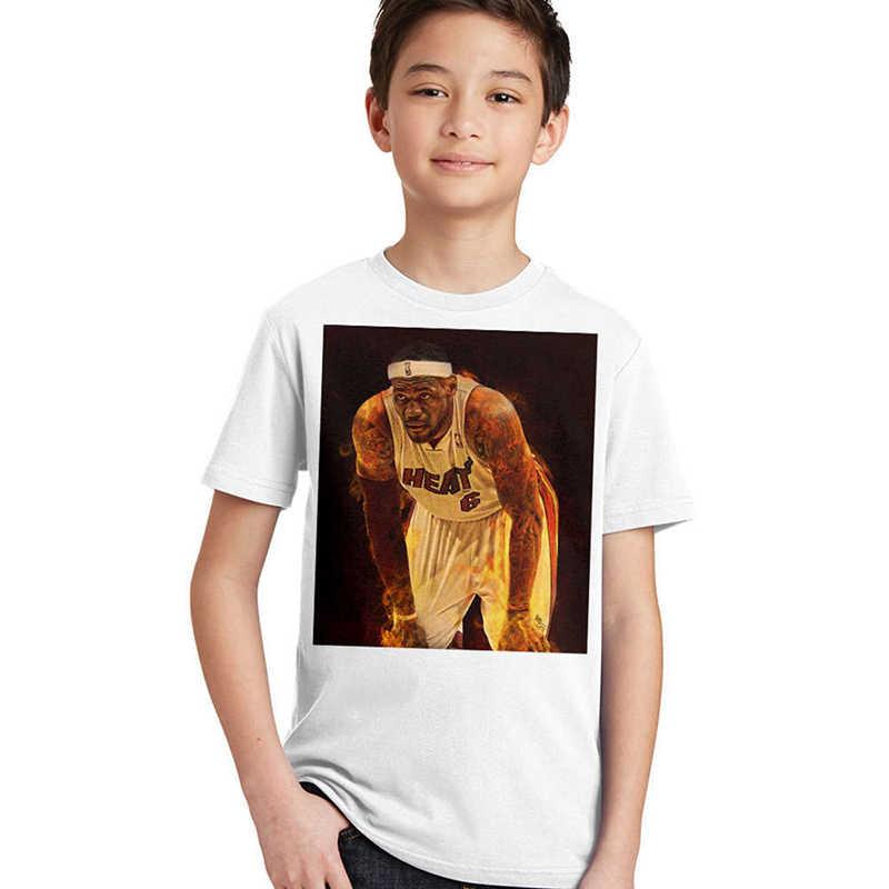 3a0800d9a ... LeBron James Kids T Shirts Short Sleeve Printing Sports T-shirts Cotton  Kids Basketball Star ...