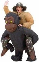 Nuevos niños adultos de halloween navidad inflable mono chimpancé cosplay mujeres hombres fancy dress outfit costumet unisex