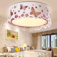 Потолочные светильники романтический акриловые сад бабочек спальня лампа круглый современный минималистский светодиодные светильники по