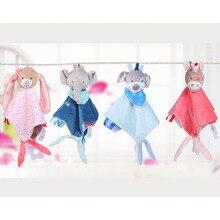 Детские мягкие игрушки в виде животных успокоить Полотенца Мягкие плюшевые успокаивающие игрушки успокаивающее полотенце для сна игрушки, плюшевая игрушка