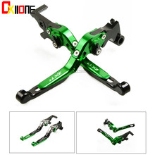 Motorcycle Folding Extendable CNC Moto Adjustable Clutch Brake Levers Up with logo Set For KAWASAKI ZX7R 1989-2003 2001 2002