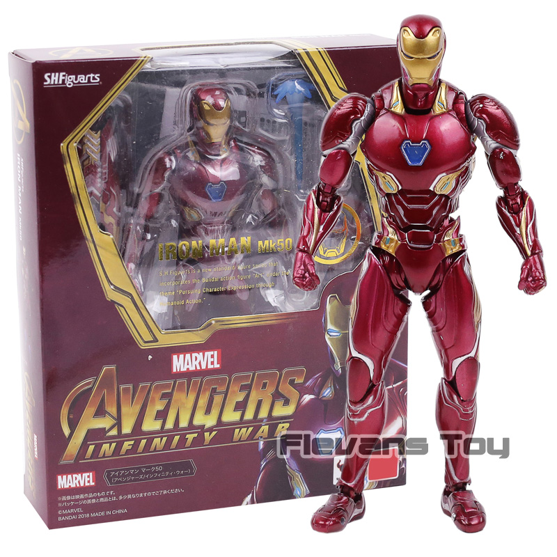 Avengers Infinity War S H Figuarts Mark XLX Iron Man MK50 PVC Acion Figure Collection Model