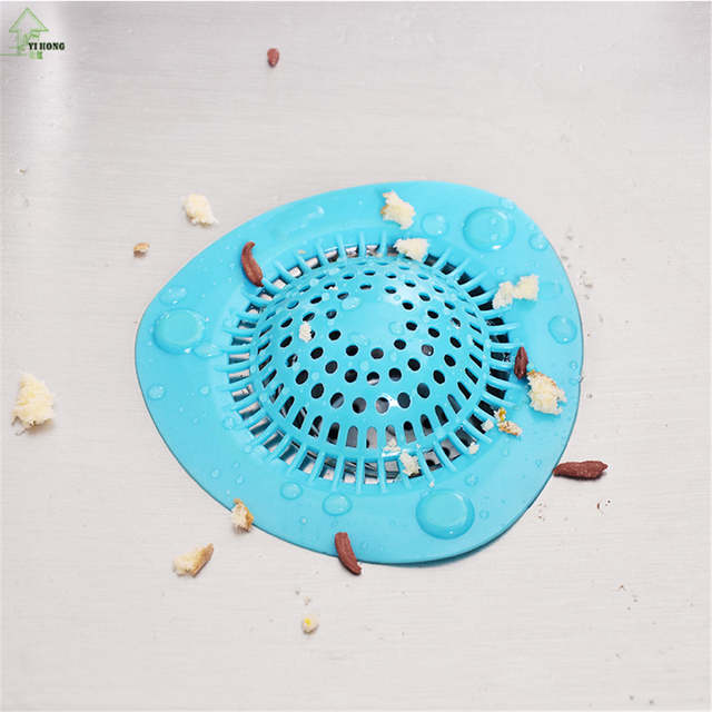 Shower Drain Cover Hair.Yi Hong Soft Silicone Bathroom Shower Drain Cover Hair Filters Sink Strainer Kitchen With Suction Cups Sink Filter A1277c