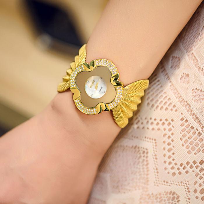malha cinta relógios de quartzo pulseira relógio