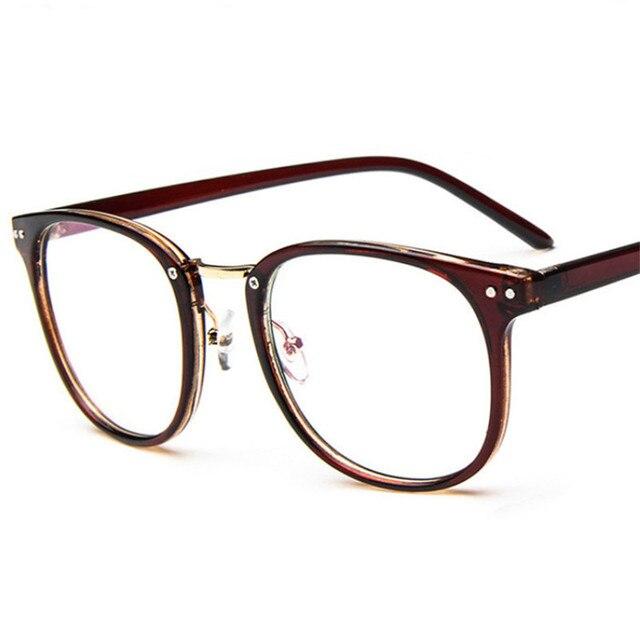 214526c48d2b0 Rocznika kobiet okulary ramki projektant Mody Retro męska zwykły mężczyzna okulary  oculos de grau femininos jasne