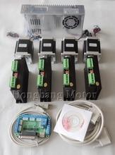 CNC Router 4 Achsen kit, 4 stücke TB6600 schrittmotor-treiber + ein breakout board + 4 stücke Nema23 270 Unzen-in motor + stromversorgung # ST-4045