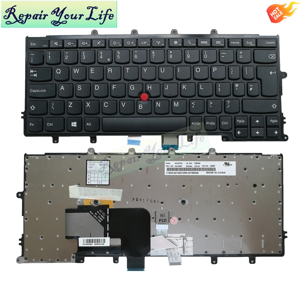 Genuine X240 UK Keyboard for Lenovo Thinkpad X240S X250 X260 Laptop Keyboard P/N:0C44740 04Y0967 CS13X SN5321 UK
