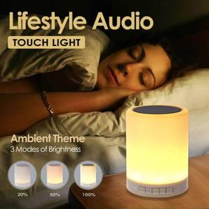 Image 2 - ポータブルワイヤレス Bluetooth スピーカーミニプレーヤータッチパットライトカラフルな Led ナイトライトベッドサイドテーブルランプより良い眠る