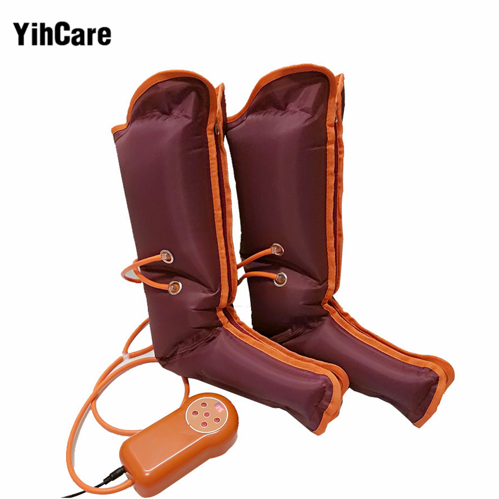 YihCare Pneumatic Leg Massager Leg Wraps Home Foot Massage Electric Air Compression Air Pressure Wave Physical Therapy Machine electric antistress therapy rollers shiatsu kneading foot legs arms massager vibrator foot massage machine foot care device hot