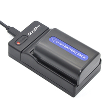 DuraPro NP-FM50 Battery + Extremely Slim USB Digital Charger for Sony Alpha A100 DSLR-A100 A100Okay CCD-TRV408 DCR-PC105