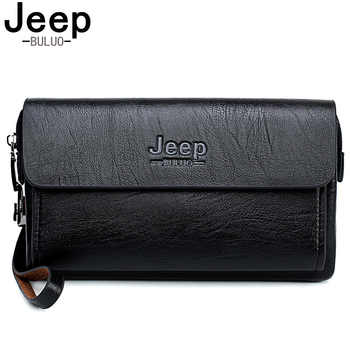 JEEP BULUO Famous Brand Men's Handbag Day Clutches Bags Luxury For Phone and Pen High Quality Spilt Leather Wallets Hand Bag - DISCOUNT ITEM  40% OFF All Category