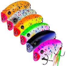 6PCS mini popper lure 5.7CM 10G lures trout ultralight fishing topwater bait finesse Crankbait Wobbler Minnow Isca Poper