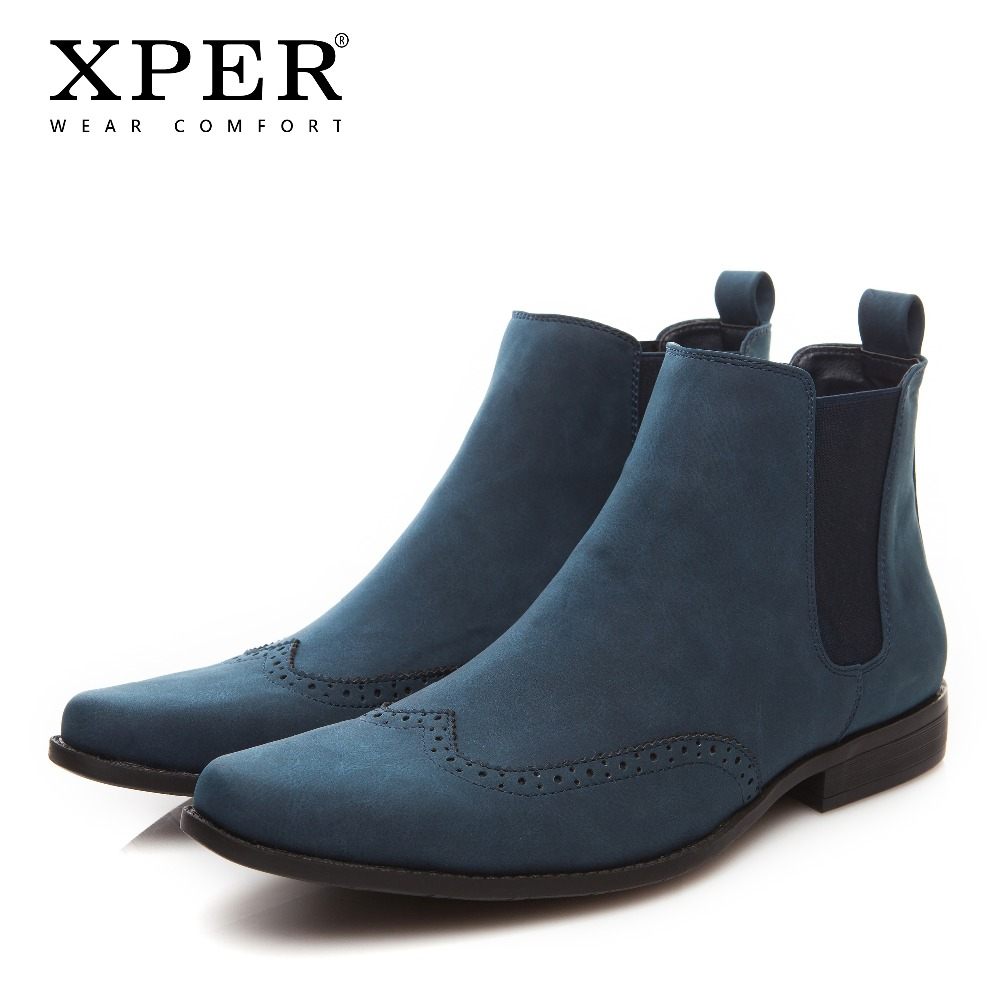 2018 XPER Fashion Spring Winter Men Chelsea Boots Slip-On Dress Shoes Dancing Footwear Pointed Toe Motorcycle Boots #XHY030/031