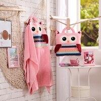 Pink Cartoon Owl Pattern Soft Flannel Cartoon Magic Portable Cushion Pillow Blanket Christmas Birthday Kid Children Toy Girl Gif
