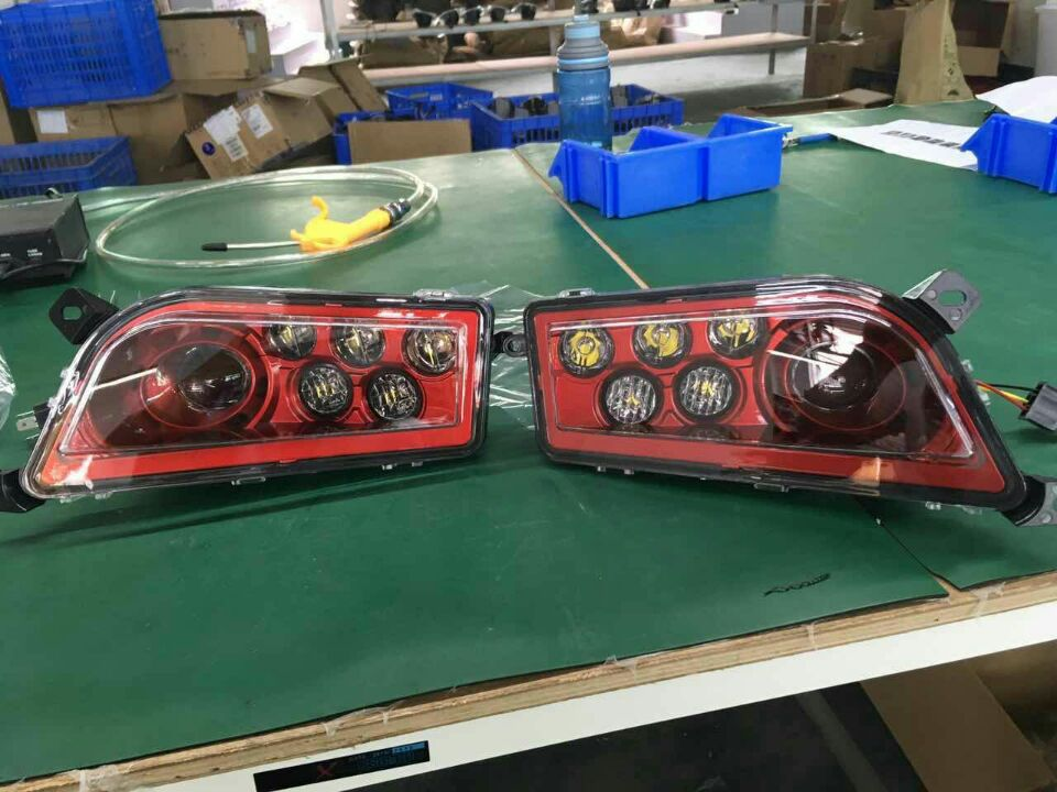 2014-2017 POLARIS RZR 1000 XP & TURBO - OEM LED HEADLIGHTS (rzr 900 MOD!) - Chrome black Gren Red Orange