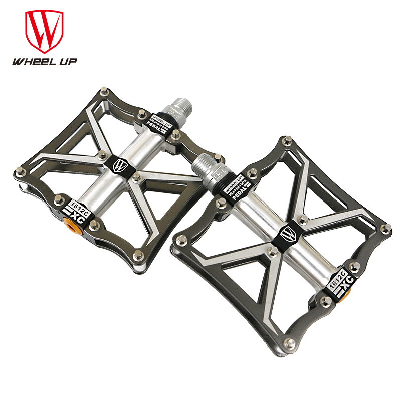 ultra-light  bike pedals titanium axle bicycle MTB Mountain bike Road Folding cycling Pedal rockbros 9 16 magnesium alloy bicycle pedal titanium spindle ultralight mountain bike pedal 5 colors