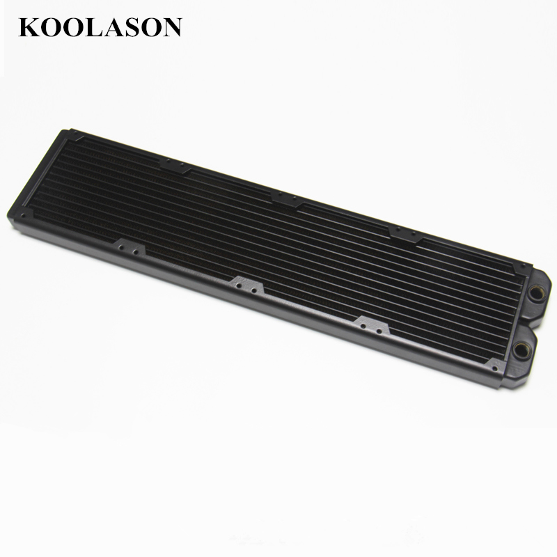 480*120*30mm Efficient heat exchanger copper fin intensive radiator Computer water Liquid cooling cooler Heat sink 120 240 360 480mm water cooling cooler copper radiator heat sink part exchanger cooler cpu heatsink for laptop desktop computer