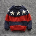 Children Sweaters Shirts baby boys girls 100%Cotton warm sweater 2015 New Autumn winter Pullover Sweater kids clothing 2-7Y