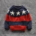 Crianças Blusas Camisas do bebê das meninas dos meninos 100% Algodão camisola 2015 New Outono inverno Pullover quente Camisola caçoa a roupa 2-7A