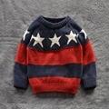 Niños Camisas Suéteres muchachas de los bebés 100% Algodón suéter caliente 2015 Nuevo Otoño invierno Suéter niños ropa 2-7Y