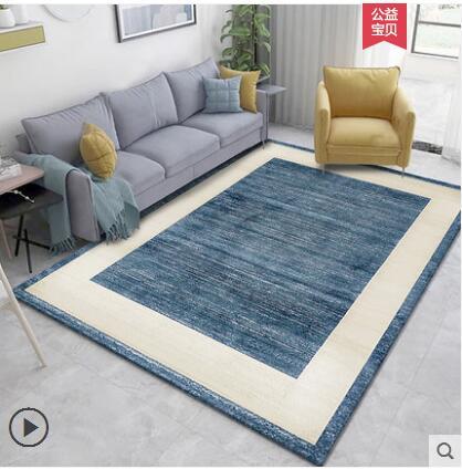 4000*3000mm Acrylic Modern Minimalist Mediterranean Anchor Design Living Room Sofa Tea Table Carpet Bedroom Rug Navy Wind Big Ma