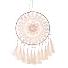 Knitted Flower Dreamcatcher for Home Decor