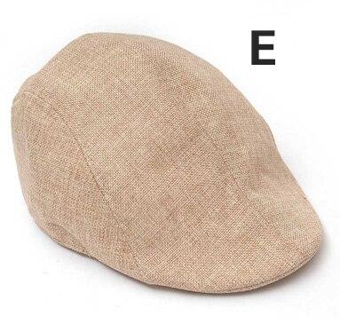 Английский стиль, однотонные весенне-зимние шапки для мужчин и женщин, модные уличные унисекс пляжные солнцезащитные шапки, новые повседневные мужские береты - Цвет: E