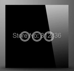 Livraison gratuite UK 86 MM interrupteur mural verre tactile interrupteur panneau 3 gang 2 voies trois sur Double contrôle trempe verre épaisseur 4mm