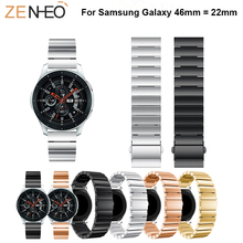 22mm Metal stainless steel Strap For Samsung Galaxy watch Band Bracelet Replacement Watch 46mm wristband
