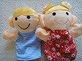 Tamaño grande 18 cm Cabritos Encantadores de Bebé Favor Familia Felpa de Terciopelo Marionetas de Mano Animales Aprendizaje Educación Aid Juguetes Cuentos