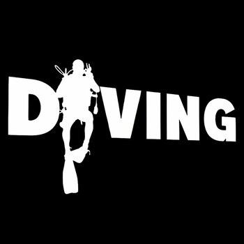 Fashion Diver Diving Sticker Car Auto Bumper Window Computer Decal Decoration PET Reflective Material 2