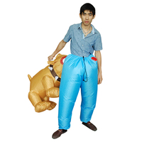 Inflatable Cosplay Costumes Dog Bites Ass Funny Carnival Halloween Party Dress Animal Clothers For Adults