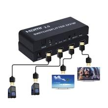 HDMI 2,0 переключатель/сплиттер 2x2 с оптическим R/L аудио поддержка 4 K/60Hz может уменьшить выход для 4K и 1080P одновременно