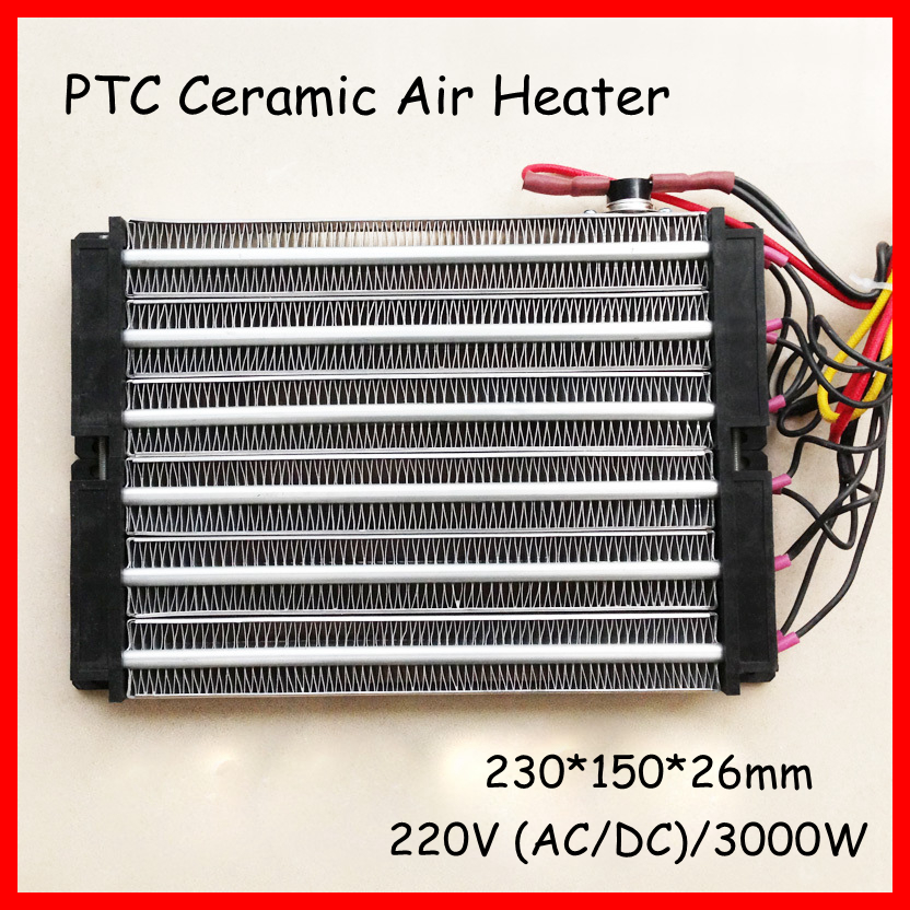 PTC electric air heater 3000W ACDC 220V 230*150mm Surface-Insulated dehumidification incubator