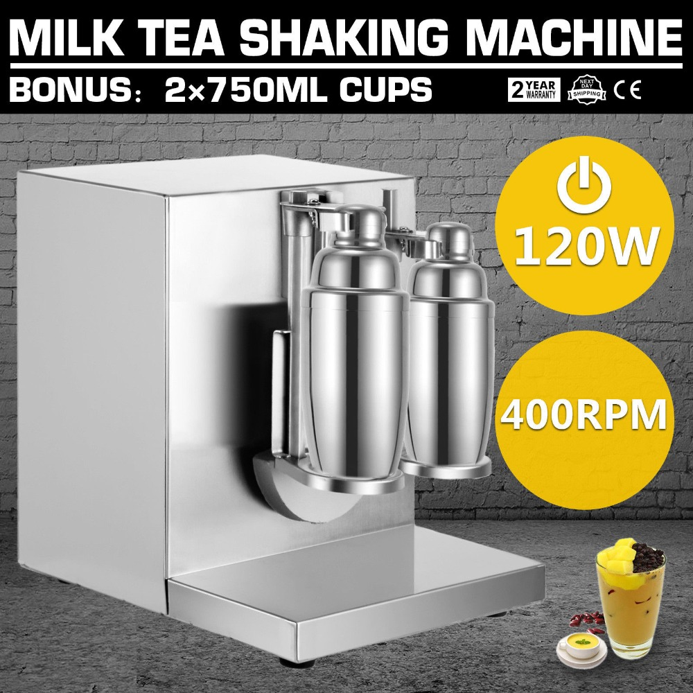 Electric auto double-Frame milk tea shaking machine stainless steel Bubble Boba shakerElectric auto double-Frame milk tea shaking machine stainless steel Bubble Boba shaker