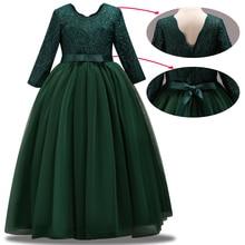 فستان جديد لحفلات وصيفات العروس للأطفال فستان حفلة عيد ميلاد الفتاة أداء حفلة الجمال vestidos de fiesta