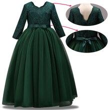 Yeni çocuk düğün nedime parti elbise kız doğum günü partisi performans topu güzellik parti elbise vestidos de fiesta