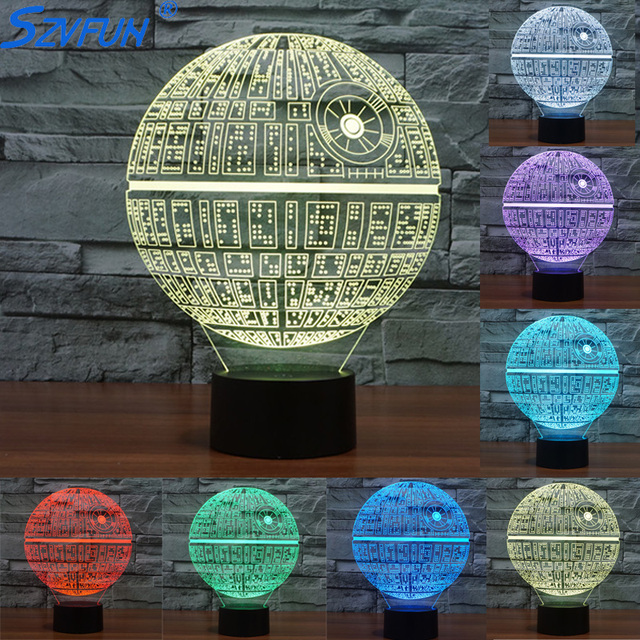 Szvfun Star Wars Todesstern Luminaria 3d Lampe Led Nachtlicht Darth