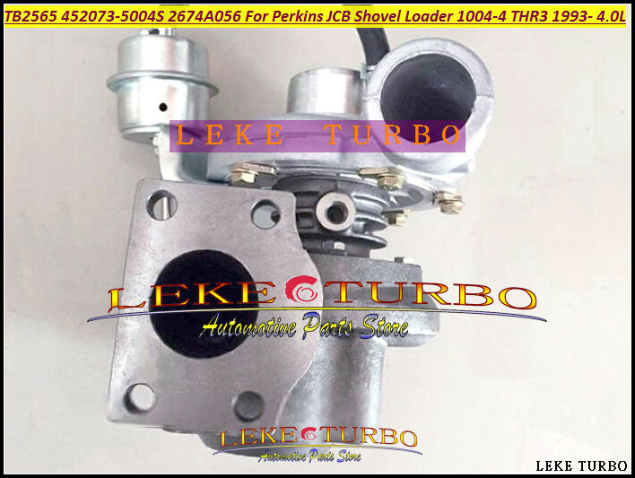 TB2565 452073 2674A056 452073-5004S Turbo Turbocharger For Perkins JCB Shovel Loader Power Units Various 1004-4 THR3 1993- 4.0L gt2556s 711736 5025s 711736 711736 0025 711736 0029 2674a225 turbo for perkins tractor 4 4l loader backhoe 420d it vista 4 2003