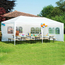 10'x10'/20'/30′ Aluminum Patio Wedding Party Gazebos Outdoor Gardern Shade Pavilion Canopy Gazebo Roof Tents Cater Events