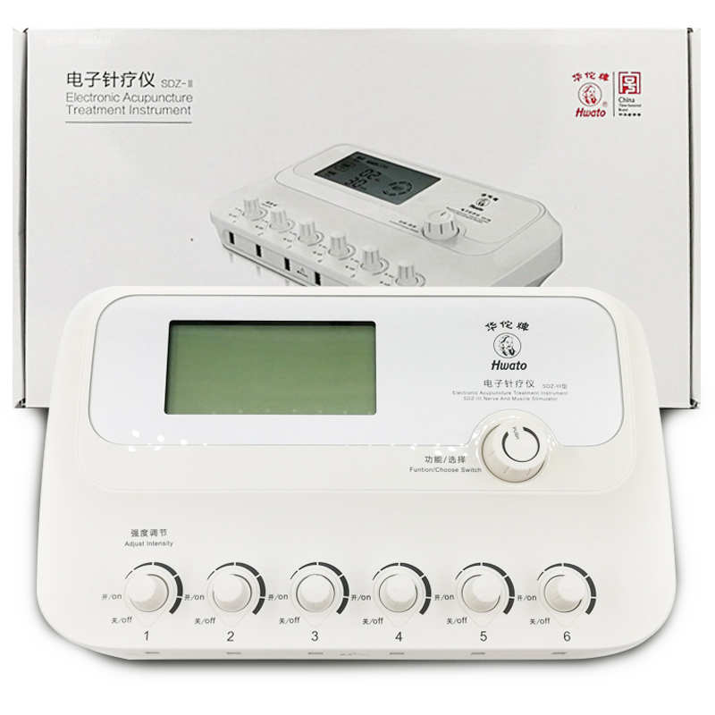 6 Channels Hwato SDZ III Low-Frequency Electro Acupuncture Stimulator Acupuncture needle treatment for Nerve and muscle hwato sdz ii therapeutic massage nerve and muscle stimulator massager electronic pulse needle set