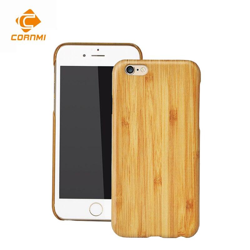 imágenes para 6 S Vintage Retro de Madera de Bambú de Casos Para El Iphone 6 6 S delgado Teléfono Móvil de la Contraportada Accesorios Con Pantalla Protector Flim CORNMI