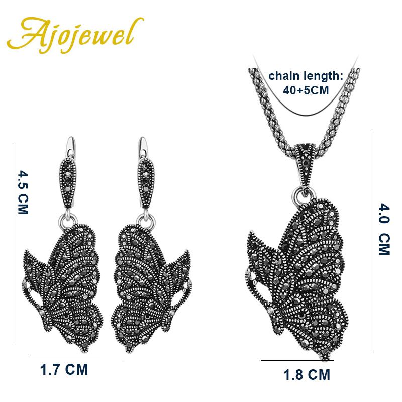 Women 39 s Vintage Butterfly Jewelry Sets Retro Animal Jewelry Necklace And Earrings in Jewelry Sets from Jewelry amp Accessories
