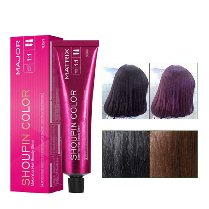 100ml Professional Permanent Hair Dye Wax Ammonia Free Non-toxic Hair Color Cream DIY Hair Styling Red Blue Gray For Men Women
