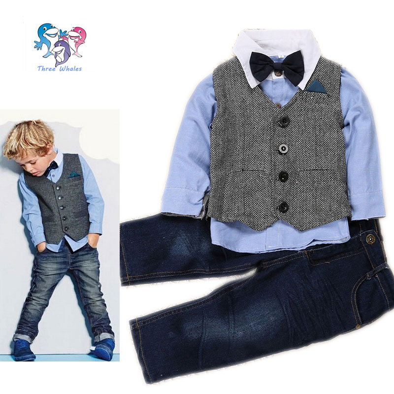 e35c1e030f22 2016 Kid Clothes Hot Sale Toddler Boys Brand Clothing 4 Pcs Formal Vest Boys  Wedding Clothes Children Outfits Boys Formal Suit