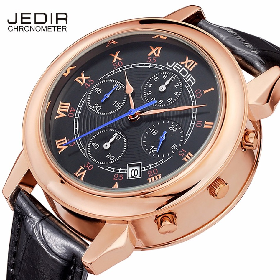 JEDIR 2016 Fashion Top Luxury brand Mens Watches Leather Strap Clock Waterproof Quartz Wrist Watch men Montre Homme reloj hombre top brand gold watches men classic business wrist watch fashion casual clock waterproof quartz watch reloj hombre montre homme
